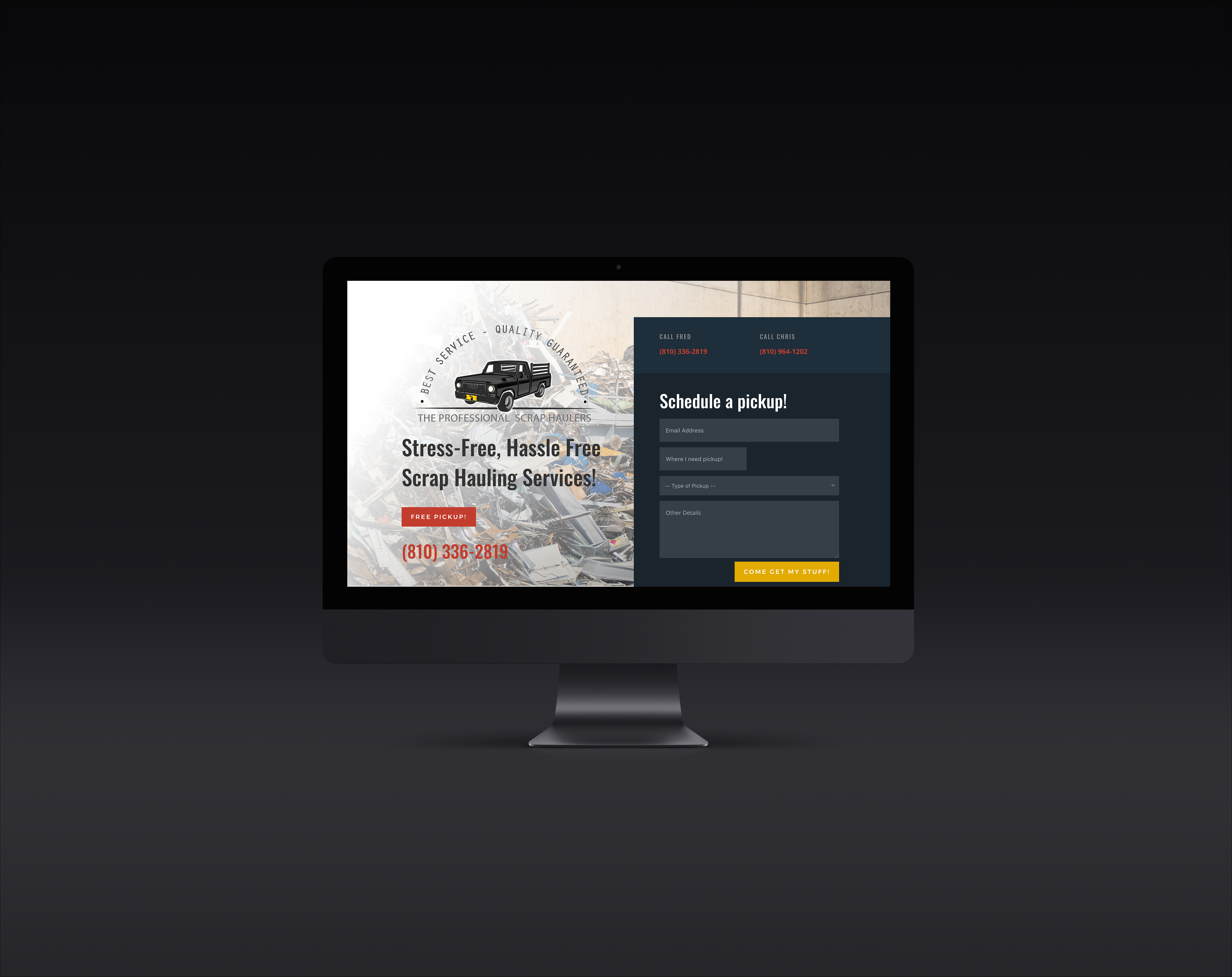 A Surprise Website for a hard working guy!